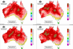 Hot spots: Australia daily maximum temperatures. Photo credit: Australia's National Meteorological Service